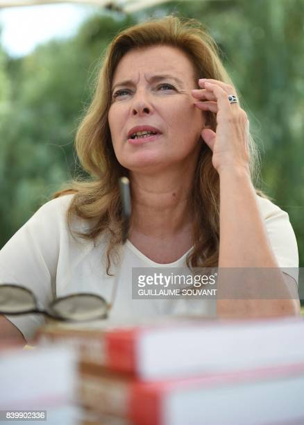 French journalist Valerie Trierweiler attends the 22th La Foret Des Livres book fair on August 27 2017 in ChanceauxpresLoches central France La Foret...