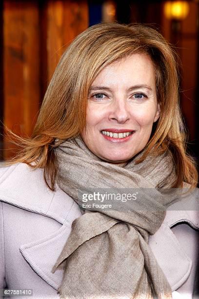 French Journalist Valerie Trierweiler Photographed in PARIS