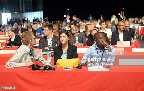 French Juliette Meadel one of the spokespersons of the French Socialist Party attends on June 6 a meeting on the second day of the 77th PS congress...