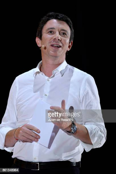 French Junior Economy Minister Benjamin Griveaux attends the third edition of Bpifrance INNO generation at AccorHotels Arena on October 12 2017 in...