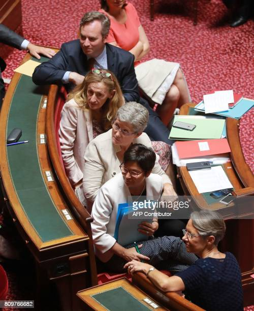 French Junior Foreign Affairs Minister JeanBaptiste Lemoyne French Justice Minister Nicole Belloubet French Junior Defence Minister Genevieve...