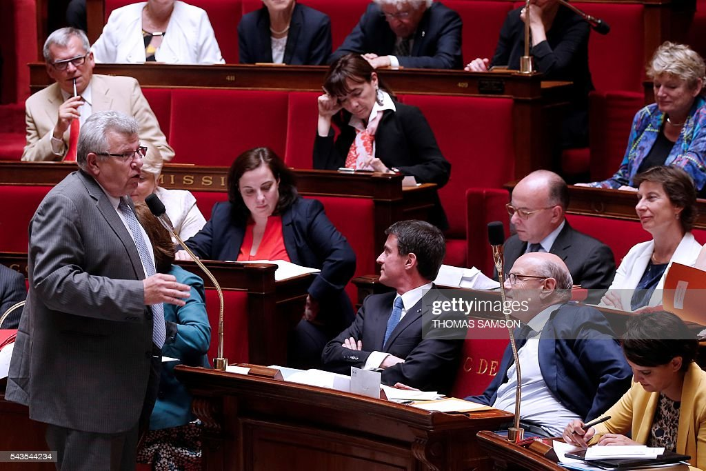 French junior minister for Budget Christian Eckert speaks during the questions to the government session on June 29, 2016 at the French National Asssembly in Paris. / AFP / Thomas SAMSON