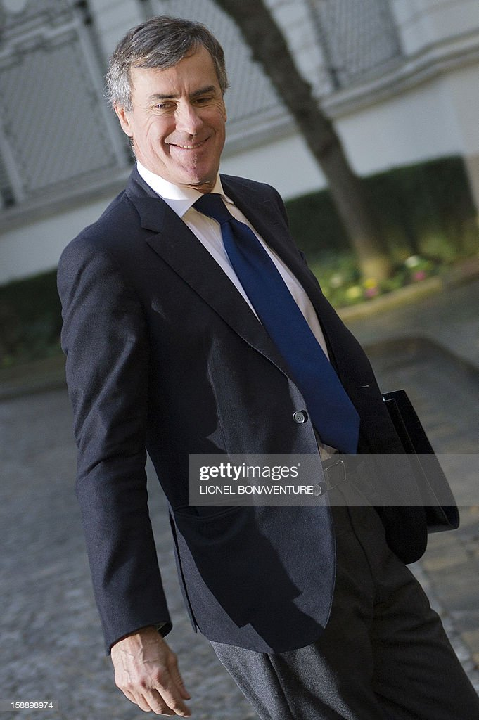 French Junior Minister for Budget Jerome Cahuzac arrives at the Ministry of Interior to attend a breakfast with ministers on January 3, 2013 in Paris, prior to first cabinet meeting of the year.