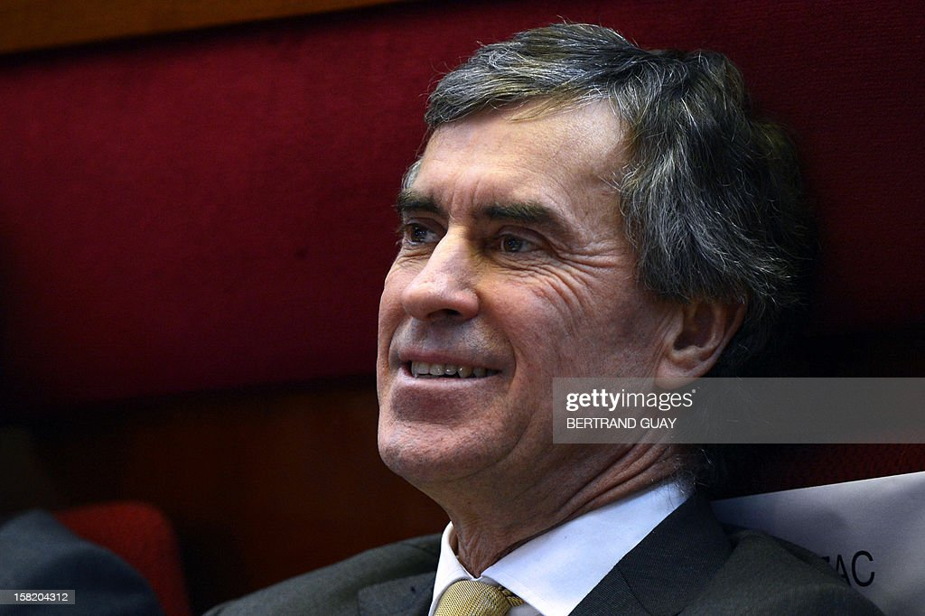 French Junior Minister for Budget Jerome Cahuzac smiles as he attends the national conference against poverty and for the social Inclusion on December 11, 2012 in Paris. AFP PHOTO / BERTRAND GUAY