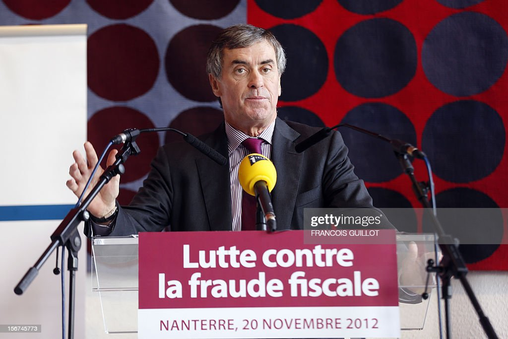 French Junior Minister for Budget, Jerome Cahuzac speaks during a press conference on tax evasion on November 20, 2012 in Paris.