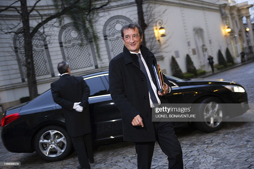 French Junior Minister for Cities, Francois Lamy arrives at the Ministry of Interior to attend a breakfast with ministers on January 3, 2013 in Paris.