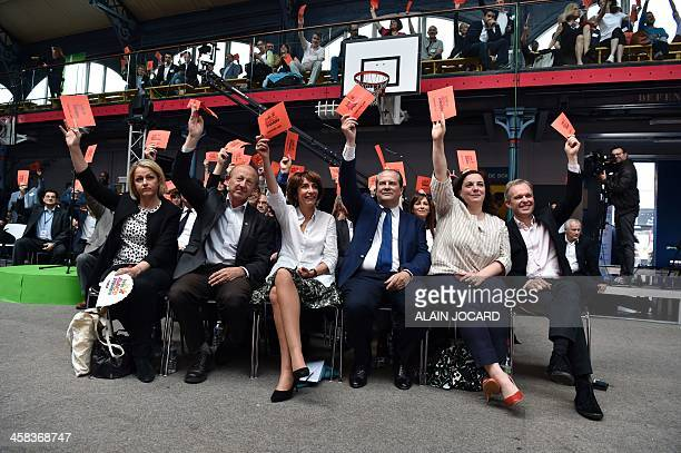 French Junior Minister for Climate and Biodiversity Barbara Pompili President of the Democrate Front JeanLuc Bennahmias French Minister for Social...
