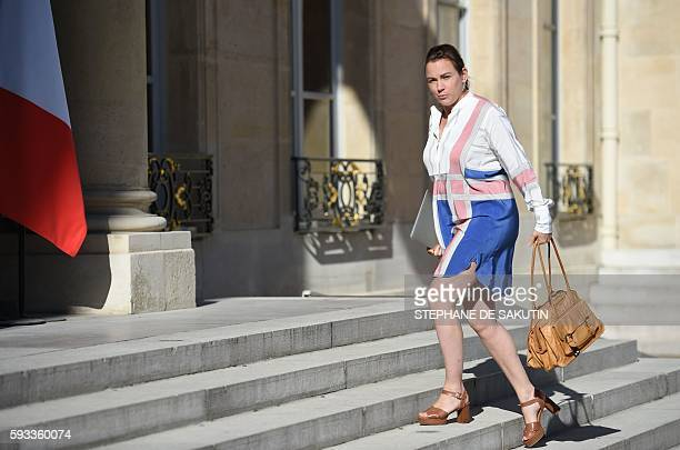 French junior minister for Digital Economy Axelle Lemaire arrives at the Elysee presidential Palace in Paris for the first weekly cabinet meeting...