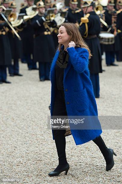 French Junior Minister for Digital Economy Axelle Lemaire arrives for the first weekly cabinet meeting of the year at the Elysee Presidential Palace...