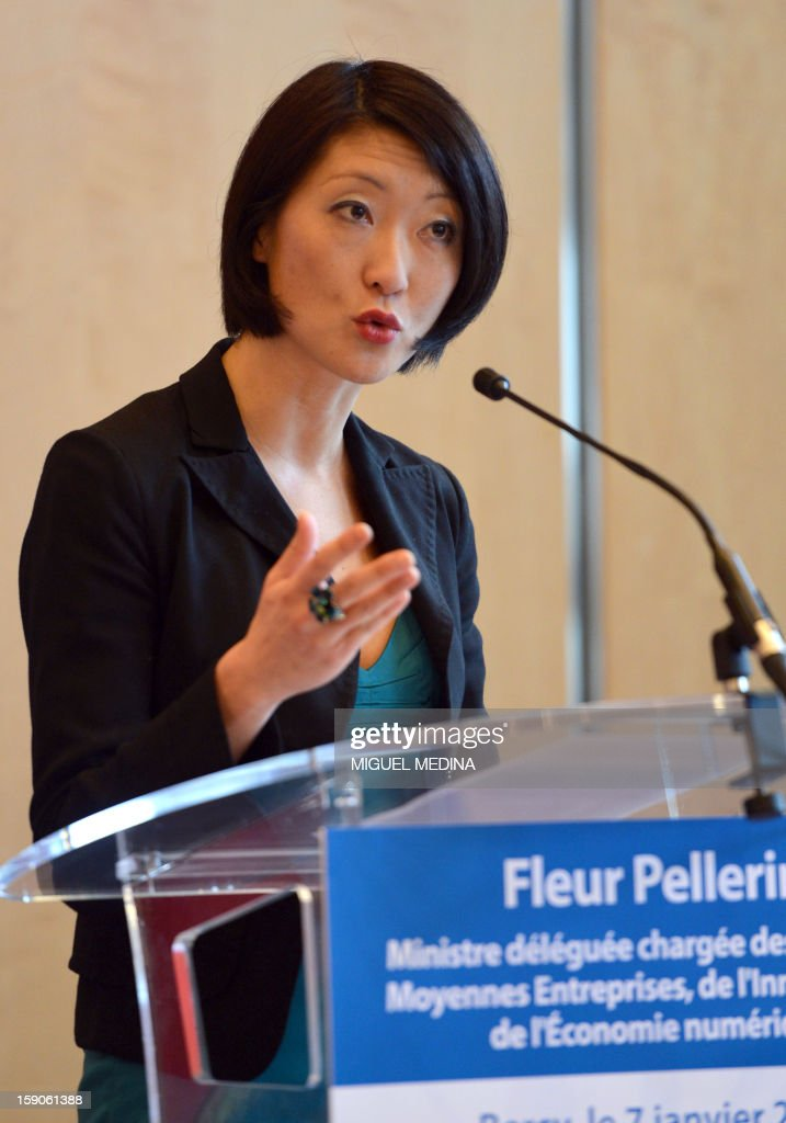 French Junior minister for Digital economy Fleur Pellerin delivers a speech, on January 7, 2013 at the ministry in Paris, after a meeting with representatives of telecoms company and internet provider Free and online publishers and advertisers to try and resolve a dispute over a decision by Free to block online advertisements.