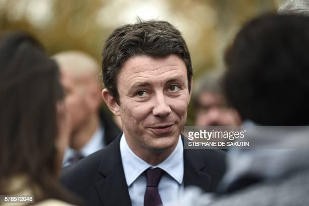 French Junior Minister for Economy Benjamin Griveaux is pictured during a visit at the research and development center of France's multinational...