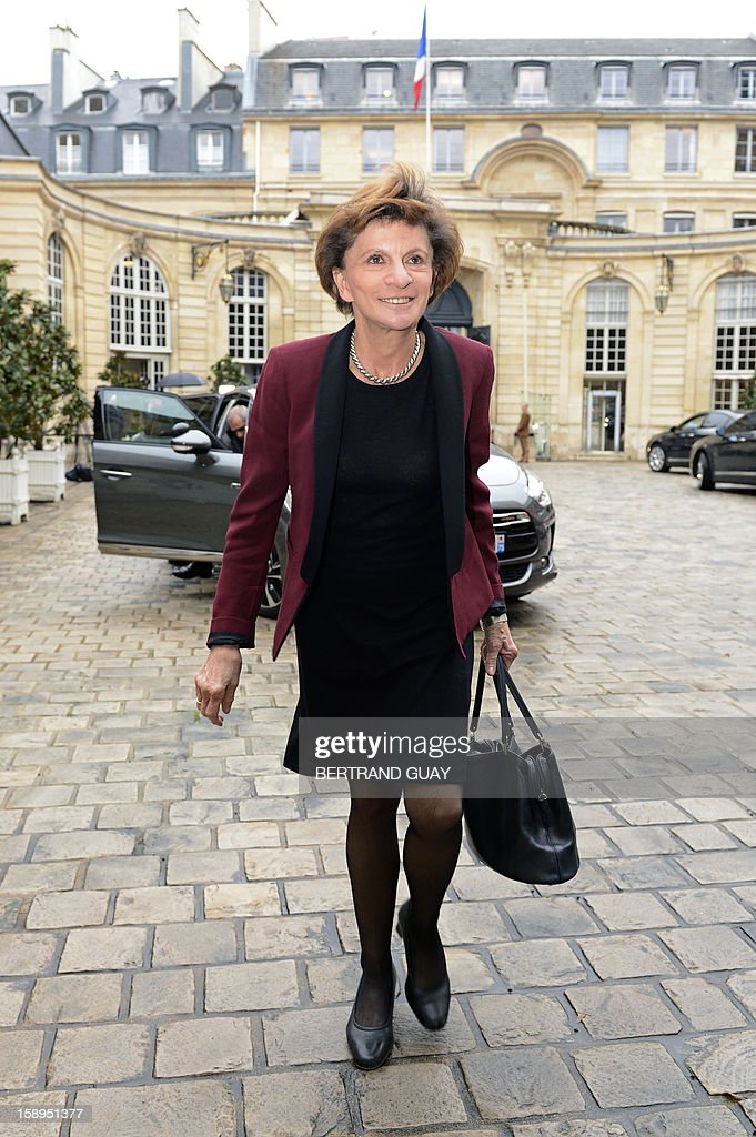 French Junior minister for Elderly people Michele Delaunay arrives at a government seminar focusing on the government's agenda for the coming year on January 4, 2013 at the Hotel Matignon in Paris. AFP PHOTO BERTRAND GUAY