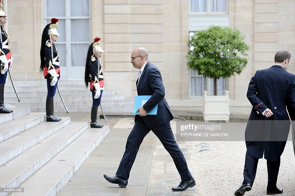 French junior minister for European Affairs Harlem Desir arrives for a meeting with Bulgarian President and French President on June 27, 2016 at the Elysee Presidential Palace in Paris. / AFP / STEPHANE