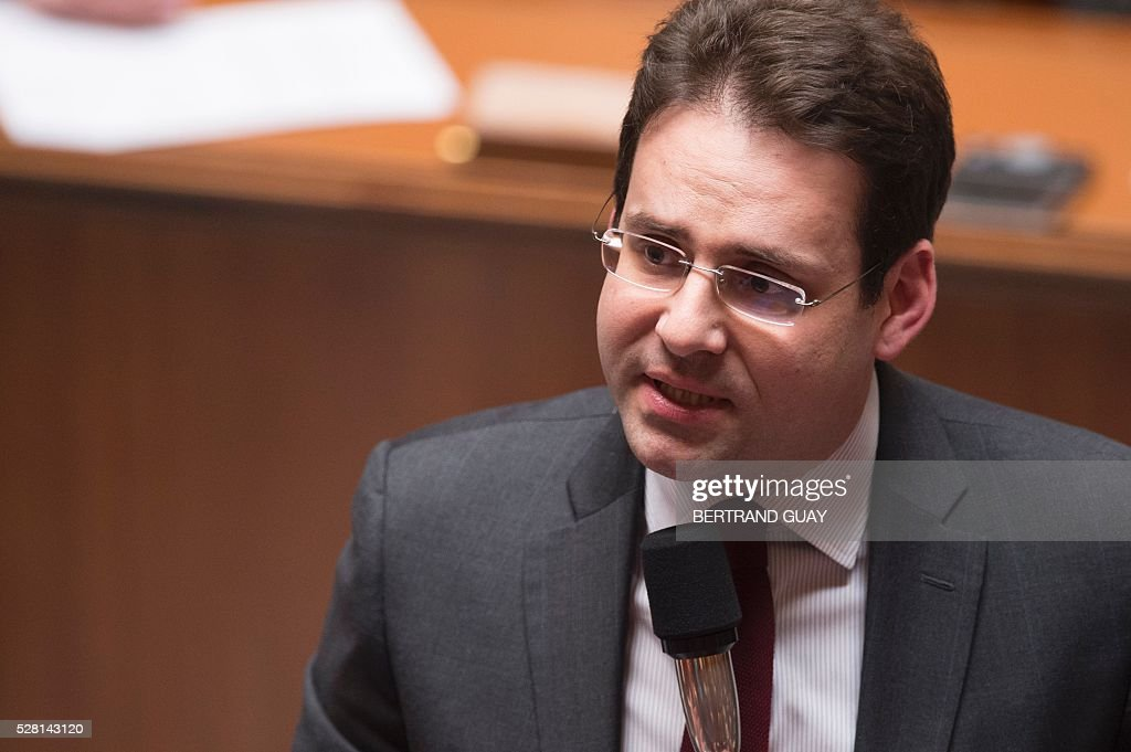 French junior minister for Foreign Trade, the Promotion of Tourism and French Nationals Abroad Matthias Fekl speaks during a session of questions to the Government, on May 4, 2016 at the French National Assembly in Paris. / AFP / BERTRAND