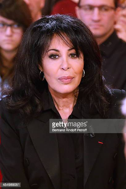 French Junior Minister for French Nationals Abroad and Relations with La Francophonie Yamina Benguigui attending 'Vivement Dimanche' French TV Show...