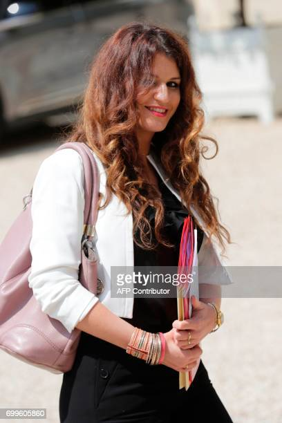 French Junior Minister for Gender Equality Marlene Schiappa leaves the Elysee Palace in Paris after the first cabinet meeting of the French new...