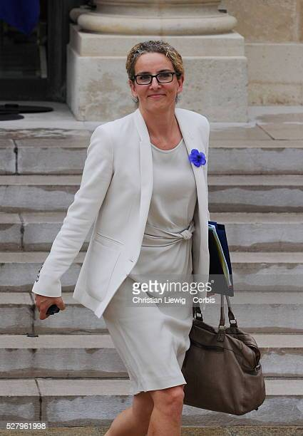 French Junior Minister for Justice Delphine Batho leaves the Elysee Palace in Paris France on august 01 2012 after the weekly cabinet meeting Photo...