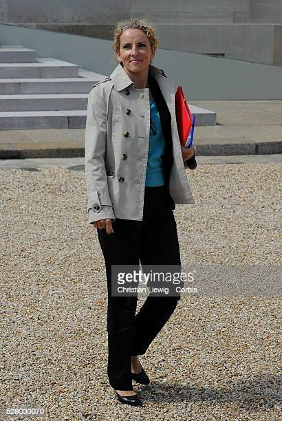 French Junior Minister for Justice Delphine Batho leaves the presidential Elysee Palace after the weekly cabinet meeting in Paris France on June 13...
