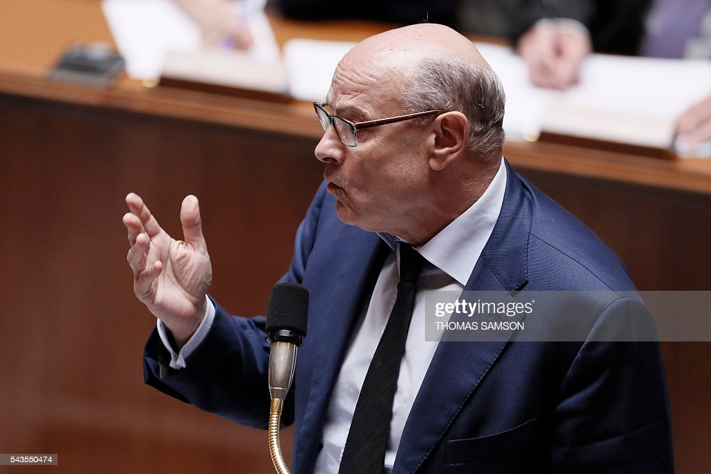 French junior minister for Parliamentary Relations Jean-Marie Le Guen speaks during the questions to the government session on June 29, 2016 at the French National Asssembly in Paris. / AFP / Thomas SAMSON