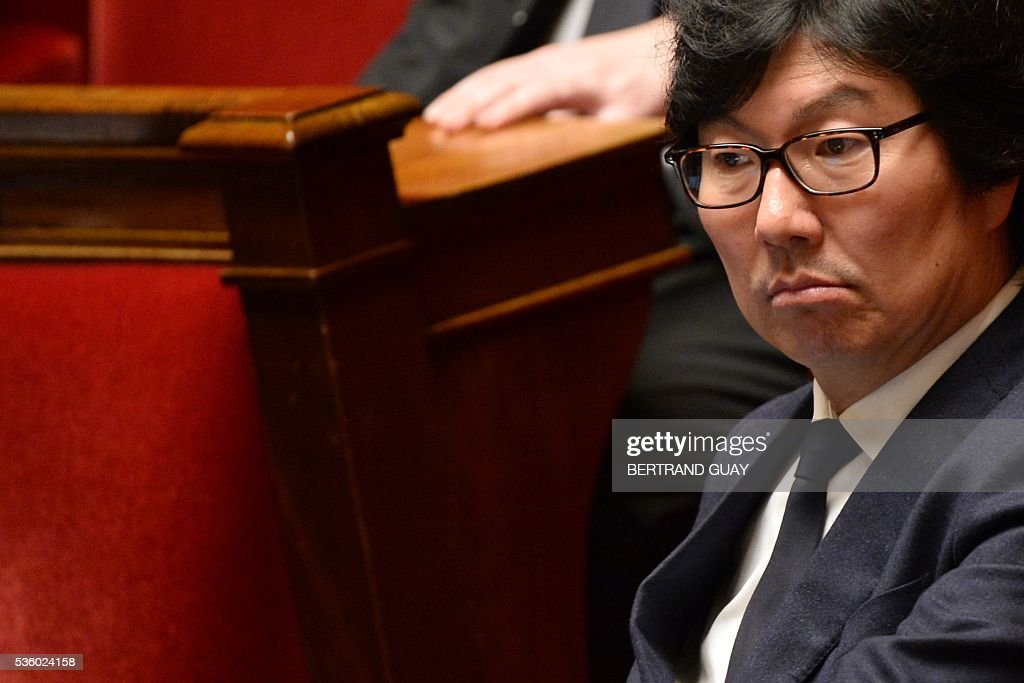 French Junior Minister for State reform and Simplification Jean-Vincent Place attends a session of questions to the Government at the French National Assembly in Paris, on May 31, 2016.