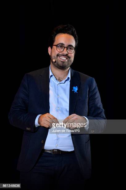 French Junior Minister for the Digital Sector Mounir Mahjoubi attends the third edition of Bpifrance INNO generation at AccorHotels Arena on October...