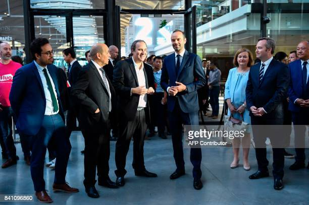 French Junior Minister for the Digital Sector Mounir Mahjoubi French Foreign Affairs Minister JeanYves Le Drian French broadband Internet provider...