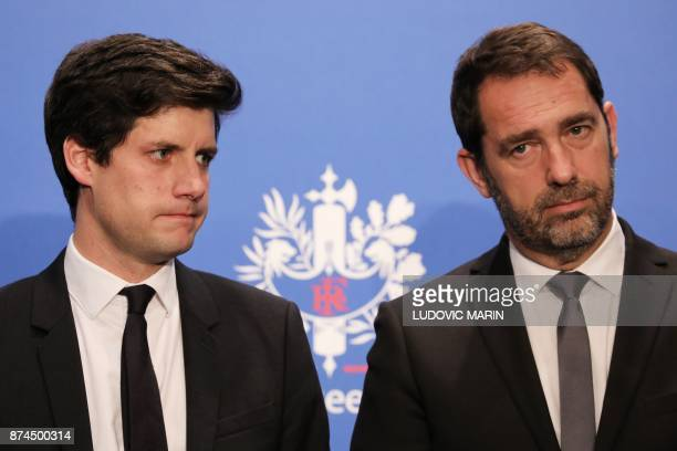 French Junior Minister for the Territorial Cohesion Julien Denormandie and French Junior Minister for the Relations with Parliament and Government...