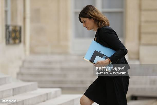 French junior minister for victims aid Juliette Meadel arrives at the Elysee presidential Palace to attend a meeting following the Nice attack in...