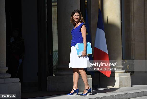 French junior minister for victims aid Juliette Meadel arrives at the Elysee presidential Palace in Paris for the first weekly cabinet meeting...