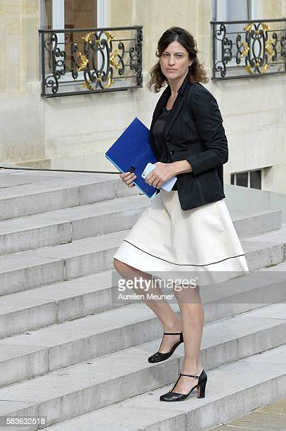 French Junior Minister for Victims Aid Juliette Meadel arrives to the Elysee Palace for the weekly cabinet meeting on July 27 2016 in Paris France...