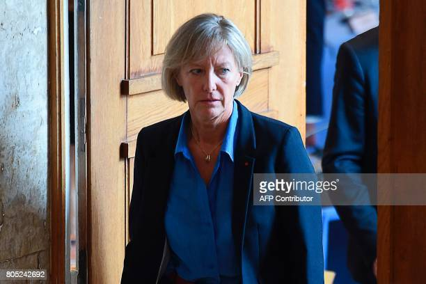 French Junior Minister in charge of Disabled People Sophie Cluzel attends a government seminar in Nancy on July 1 2017 / AFP PHOTO / FRANCOIS LO...