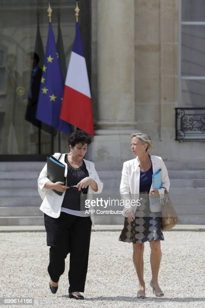 French Junior Minister in charge of Disabled People Sophie Cluzel and French Minister of Higher Education Research and Innovation Frédérique Vidal...
