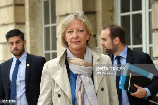 French Junior Minister in charge of Disabled People Sophie Cluzel arrives prior to the Government seminar in Nancy on July 1 2017 / AFP PHOTO /...