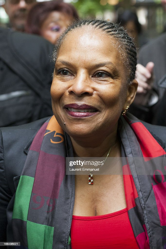 French Justice Minister Christiane Taubira attends a ceremony marking the abolition of slavery in the Jardins du Luxembourg on May 10, 2013 in Paris, France. Taubira Law was passed in May 2001 acknowledging slavery and the Atlantic slave trade as crimes against humanity.