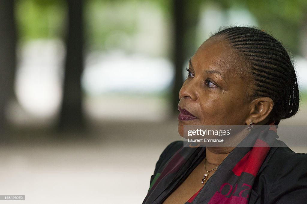 French Justice Minister <a gi-track='captionPersonalityLinkClicked' href=/galleries/search?phrase=Christiane+Taubira&family=editorial&specificpeople=3798541 ng-click='$event.stopPropagation()'>Christiane Taubira</a> attends a ceremony marking the abolition of slavery in the Jardins du Luxembourg on May 10, 2013 in Paris, France. Taubira Law was passed in May 2001 acknowledging slavery and the Atlantic slave trade as crimes against humanity.