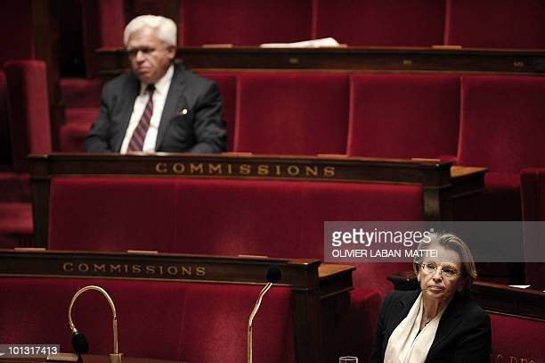 French Justice Minister Michele AlliotMarie is seen on May 11 2010 at the National Assembly in Paris prior to a vote in regards to the debate on the...