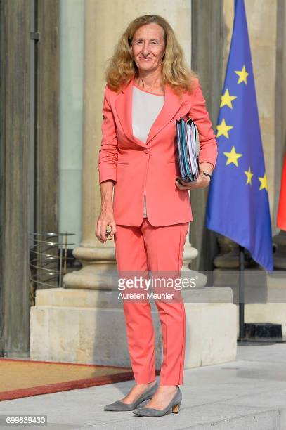 French Justice Minister Nicole Belloubet arrives to the Elysee Palace for the weekly cabinet meeting with French President Emmanuel Macron on June 22...