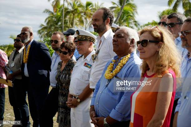 French Justice Minister Nicole Belloubet President of the Loyalty Islands and mayor of Lifou Neko Hnepeune French Prime Minister Edouard Philippe...