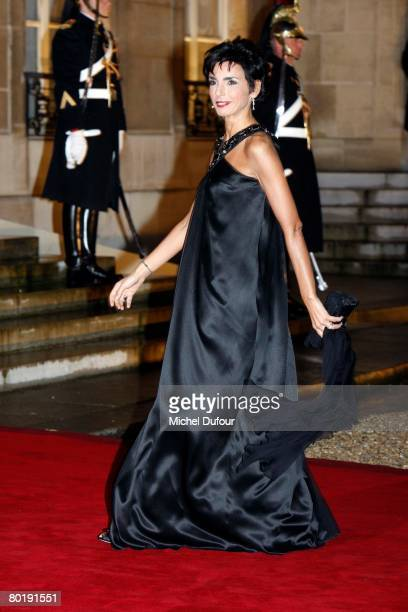 French Justice minister Rachida Dati arrives to a state dinner hosted by President Nicolas Sarkozy and his wife Carla in honour of Israeli President...