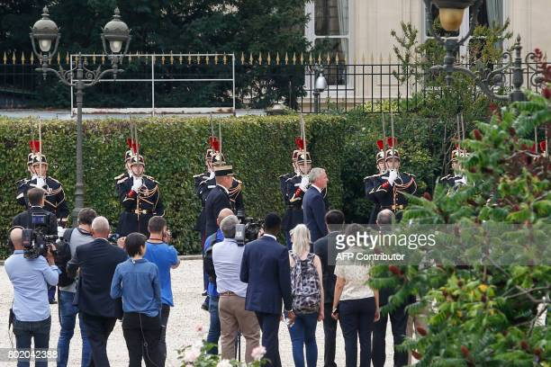 French La Republique en Marche party's Member of Parliament and newly elected President of the National Assembly Francois de Rugy walks past...