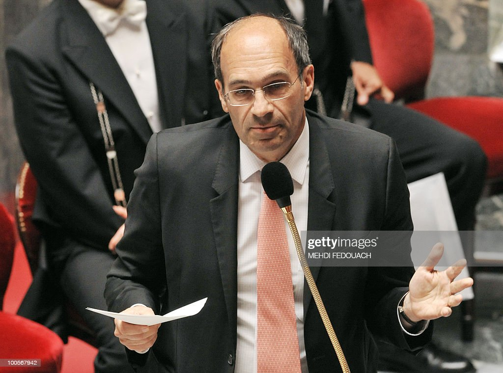 French Labour minister Eric Woerth answers a deputy question during the session of questions to the government on May 25, 2010 at the National Assembly in Paris. President Nicolas Sarkozy will seek to push back France's retirement age, aides confirmed today, as workers prepared a day of protest against this main plank of his undeclared austerity programme.