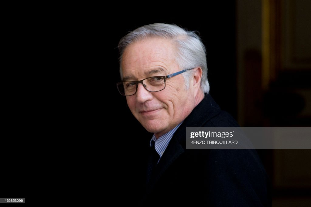 French Labour minister <a gi-track='captionPersonalityLinkClicked' href=/galleries/search?phrase=Francois+Rebsamen&family=editorial&specificpeople=590201 ng-click='$event.stopPropagation()'>Francois Rebsamen</a> arrives for a meeting at the Hotel Matignon in Paris, on March 06, 2015.