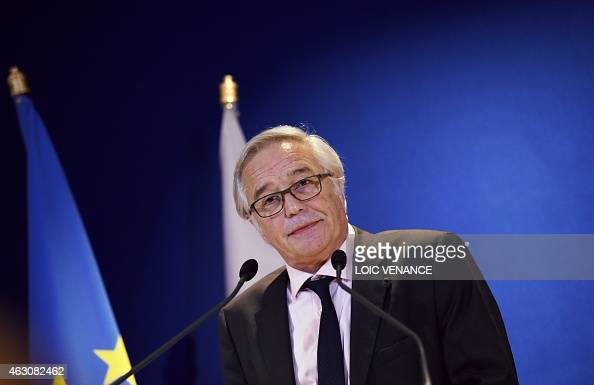 French Labour minister Francois Rebsamen gives a press ...