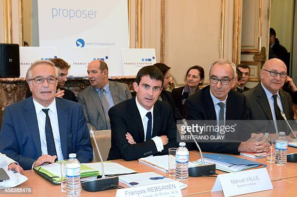 French Labour Minister Francois Rebsamen Prime Minister Manuel Valls CommissionerGeneral of the French General Commission for Strategy and Economic...