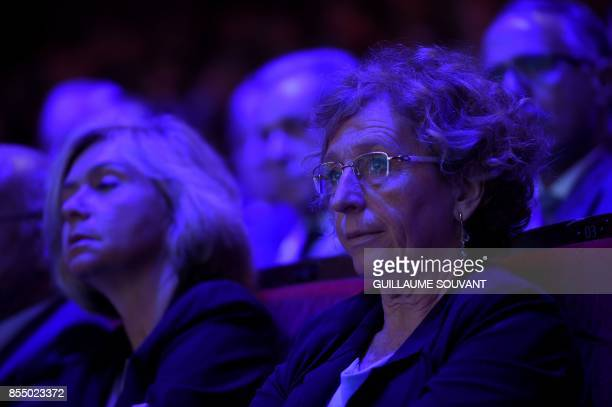 French Labour Minister Muriel Penicaud and President of the Regional Council of the IledeFrance region Valerie Pecresse attend the opening of the...
