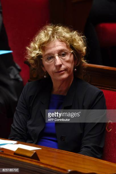 French Labour Minister Muriel Penicaud listens during a session at the French National Assembly on a bill allowing the government to change some...