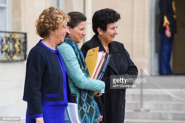 French Labour Minister Muriel Pénicaud French Minister for Solidarity and Health Agnes Buzyn and French Minister of Higher Education Research and...