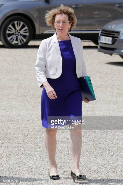 French Labour Minister Muriel Pénicaud leaves the Elysee Palace in Paris after the first cabinet meeting of the French new government on June 22 2017...