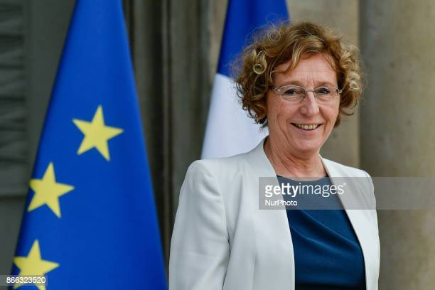French Labour Minister Muriel Pénicaud leaves the Elysee Presidential Palace after the weekly cabinet meeting in Paris October 25 2017