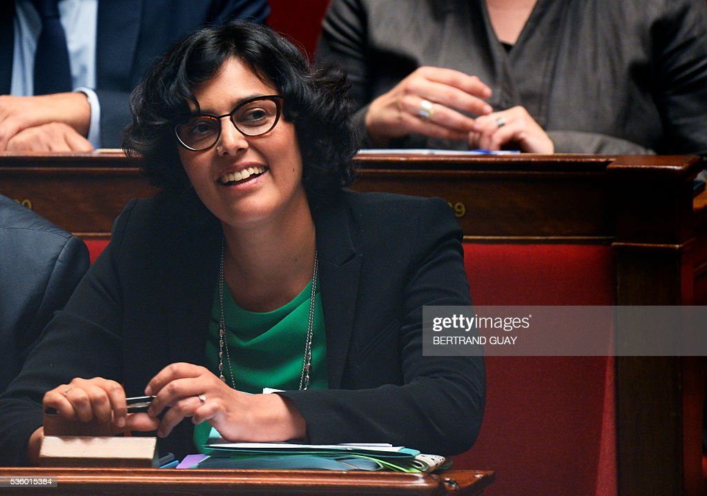 French Labour Minister Myriam El Khomri smiles as she attends a session of questions to the Government at the French National Assembly in Paris, on May 31, 2016.